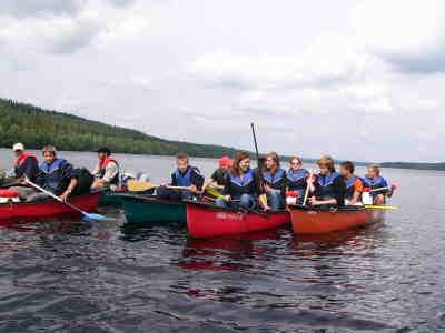 Die Gruppe auf dem Tolgasjön